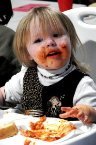 No abortion here: messy child eating