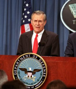 9/11 the crime: traitor, Donald Rumsfeld, at the Pentagon