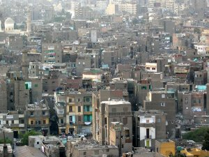 Sustainable Development: Slums in Cairo, Egypt.