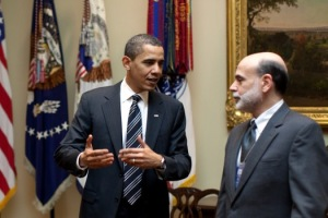 Weakening America: Obama meets Bernanke.