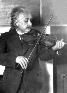 Lies We're Told: Albert Einstein playing violin.